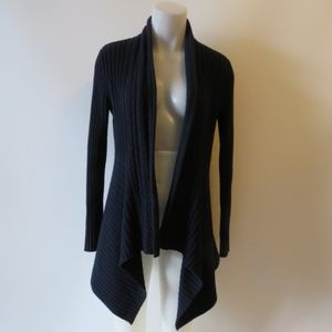AUTUMN CASHMERE NAVY BLUE CARDIGAN SWEATER SZ M *